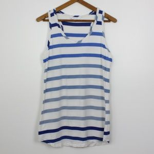 CAbi Blue and White Ombre Tank Sz S